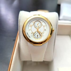Philip Stein Gold And White Dial White Watch